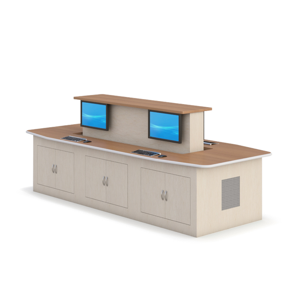 Uplift Conference Table With Retractable Displays Mainline Computer - Conference table displays