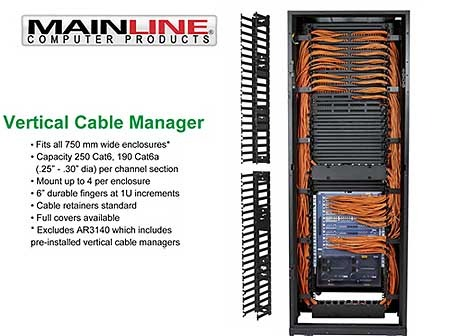 Vertical Cable Management Mainline Computer