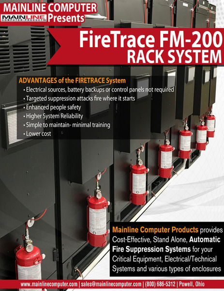 Fire Protection for Server Cabinets | Mainline Computer